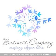 nature abstract business logo emblem vector