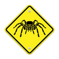 spider- tarantula  Caution Sign