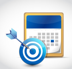 calendar and target dart illustration design