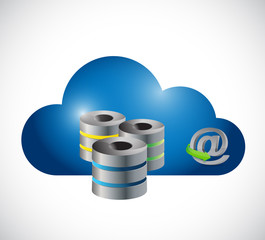 online cloud server illustration design