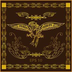 золотая птица,каллиграфия