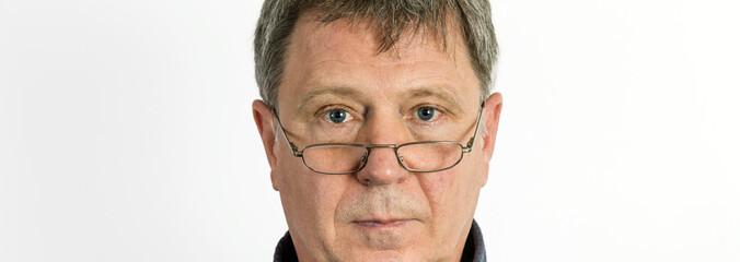 Closeup portrait of sad  stressed man