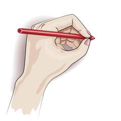 Writing left hand