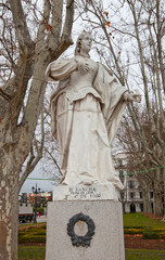 Statue of Queen Sancha (circa1753). Madrid, Spain.
