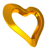 Golden heart, 3d