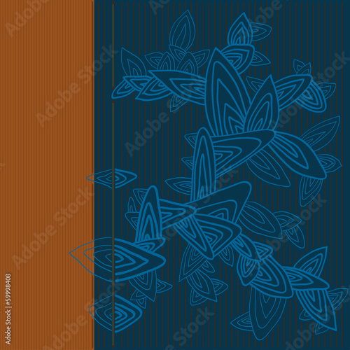 Colorful stylized floral background