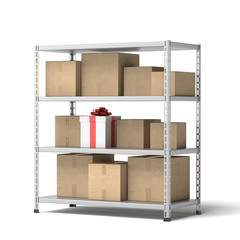 Warehouse with gift