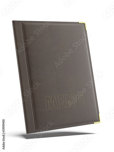 Brown leather Menu folder