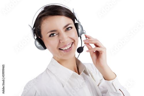 Cute girl with headphones - 59999465