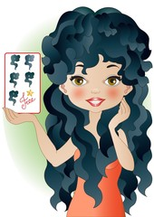 black hair beauty card