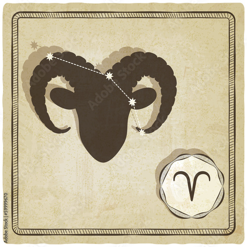 astrological sign - aries - vector illustration