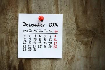 zettl-brettl kalenderblatt 2014 dezember I