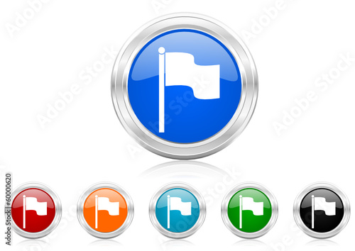 flag icon vector set