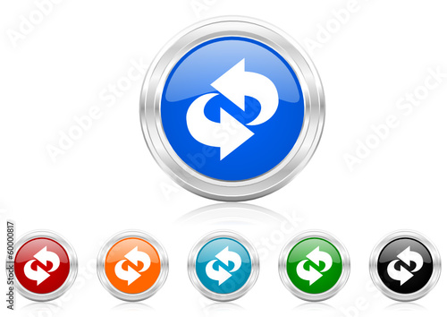 rotation icon vector set