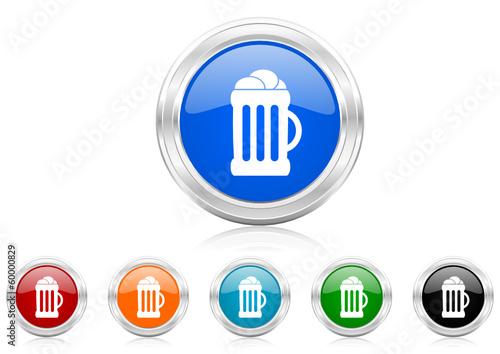 beer icon vector set
