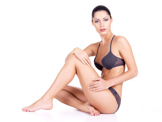 woman with health body and long slim legs