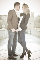 Fashion Young couple in love