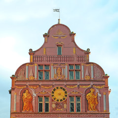 Renaissance city hall in Mulhouse, Alsace, France