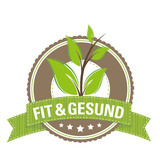 Button: Fit & Gesund