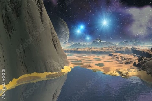 Flight Over Alien Landscape 02