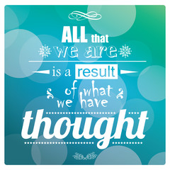 Quote, inspiration message, typographic background, vector
