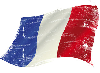 French flag grunge