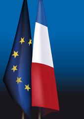 DRAPEAU France Europe