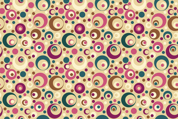 Fragment of seamless pattern with circles for vintage background