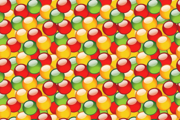 Seamless pattern for background with bright balls