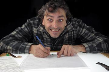 smiling animator