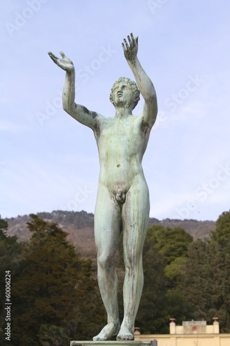 Statue in Trieste - Miramare Castle - Europe