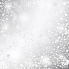 Silvery christmas frame