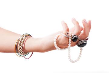 Hand with jewelery