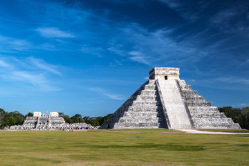 The famous Mayan pyramid from Chichen Itza, Mexico