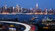 New York midtown skyline at dusk