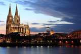 Cologne cathedral across the Rhine river