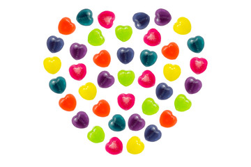 Heart Candy Set in Full Heart Shape for Valentine