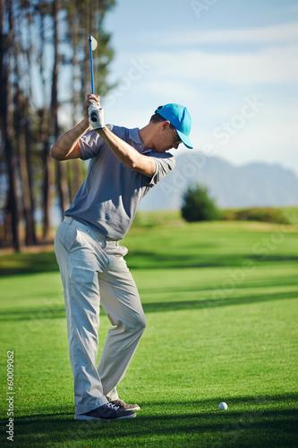 Papiers peints Golf golf shot man