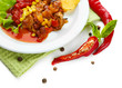 Chili Corn Carne - traditional mexican food,