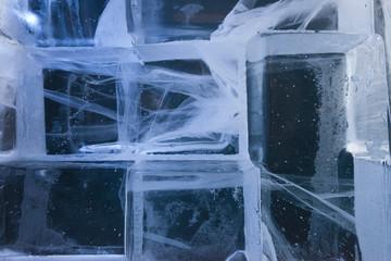 ice blocks wall
