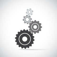 Cogs (gears) on light background. Vector