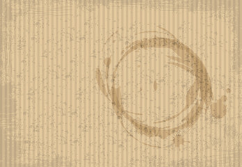 Coffee spots on a cardboard paper. Vector