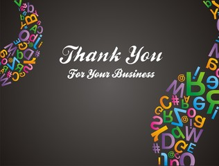 alfabet pattern - thank you for your business