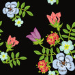 Floral seamless pattern. Seamless texture with flowers.