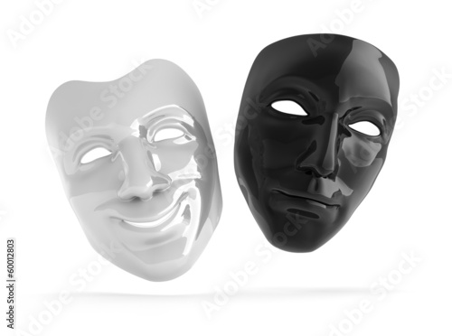 Schwarze und weiße Theatermaske - 60012803
