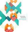 Colorful realistic geometric shape design template