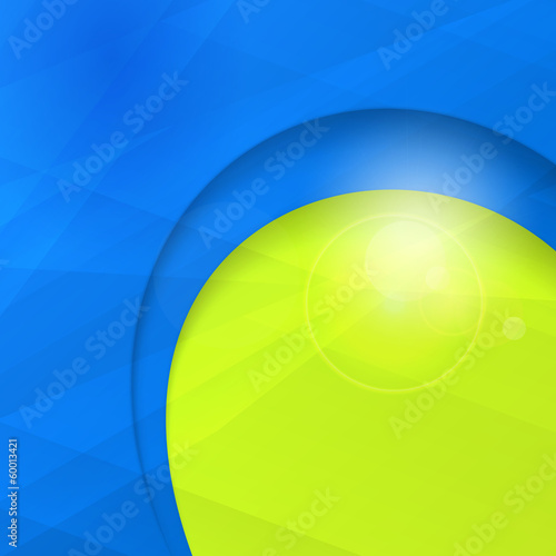 Abstract blue green business design template with copy space