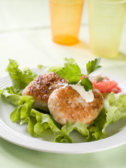 fish or meat  rissole