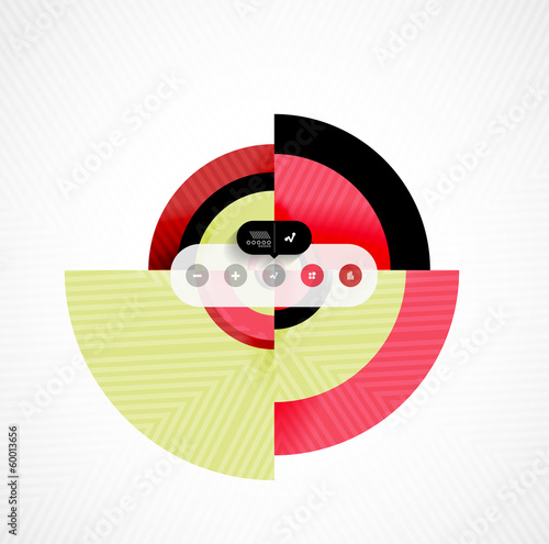 Circle geometric shapes flat interface design