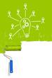 Hintergrund grün Lampe